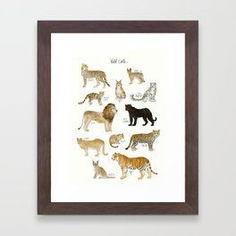 Wild Cats Framed Art Print