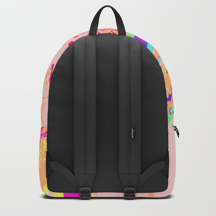 Rainbow rays soccer ball Backpack