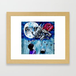 look ! mummy and daddy have turned into rabbits Framed Art Print