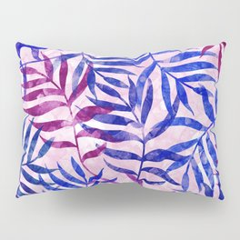 Watercolor Tropical Palm Leaves II Pillow Sham