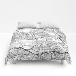 Rotterdam Map White Comforters