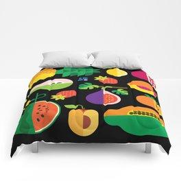 Fruit Medley Black Comforters