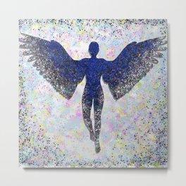 Rainbow Angel Explosion Metal Print