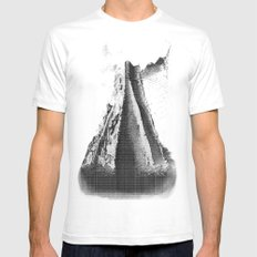 Alluding Title White SMALL Mens Fitted Tee