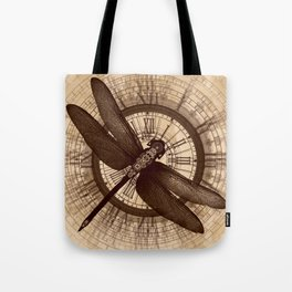 Steampunk - Mechanical Dragonfly Tote Bag
