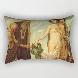 The Gift by Ángel Zárraga Rectangular Pillow