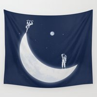 skate Wall Tapestries featuring Skate Park by Naolito