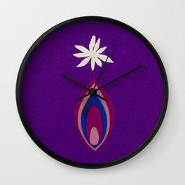 de Flower [purple] Wall Clock
