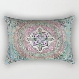 the four directions, a medicine wheel Rectangular Pillow