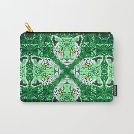 Emerald Leopard  Carry-All Pouch