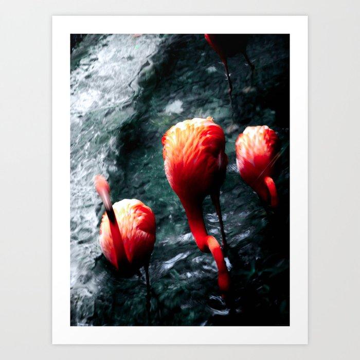 """Pink Flamingos"" Art Print"