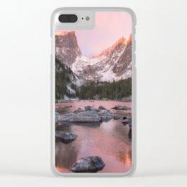 Dream Lake Sunrise Clear iPhone Case