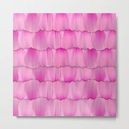 Gentle Pink Purple Flower Petal Pattern Metal Print