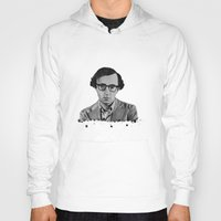 woody allen Hoodies featuring Woody Allen by OnaVonVerdoux