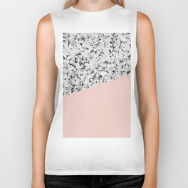 Granite and Pale Dogwood Color Biker Tank