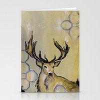 stag Stationery Cards featuring Stag by Sonal Nathwani