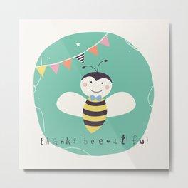 Boris Bee Metal Print