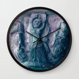 Romanesque lovers II Wall Clock