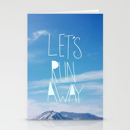Let's Run Away: Mount Rainier Stationery Cards