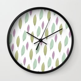 And in the beginning, there were leaves. Wall Clock