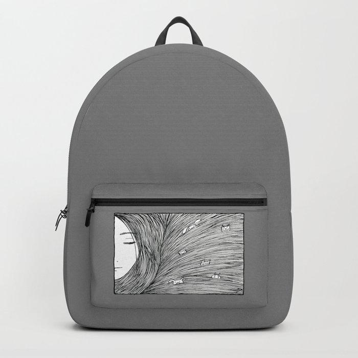 Separated grey Rucksack