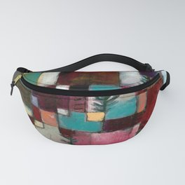 Paul Klee Red Green and Violet-Yellow Rhythms Fanny Pack