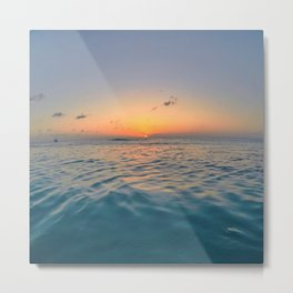 Sunset Ocean Metal Print