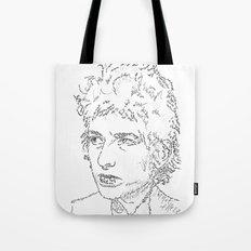 Bob Dylan WordsPortrait  Tote Bag