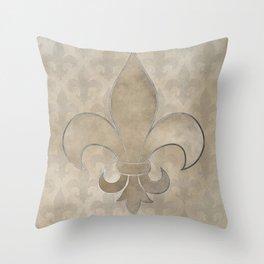 Fleur de lis pattern Throw Pillow