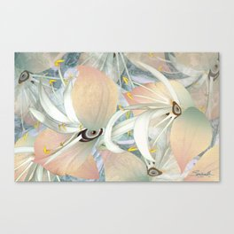 Planet of Flowers Abstract Canvas Print