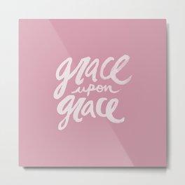 Grace upon Grace x Rose Metal Print