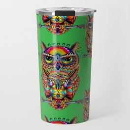 Owl of Sacred Knowledge Travel Mug