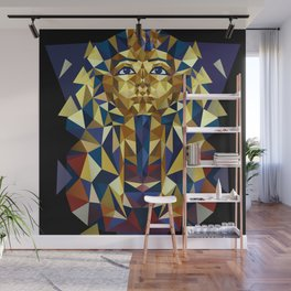 Golden Tutankhamun - Pharaoh's Mask Wall Mural