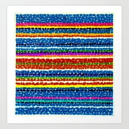 African American Masterpiece 'Light Blue Nursery No. 2'' by Alma Thomas Art Print Art Print