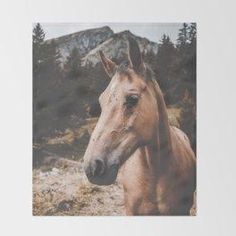 Rustic Horse Throw Blanket