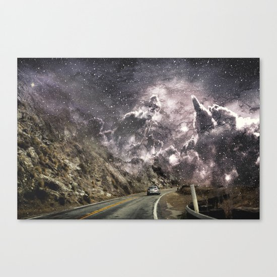 Space gazing Highway One Canvas Print