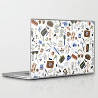 wallet Laptop & iPad Skins featuring Girly Objects by Yuliya