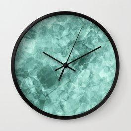 crystal blue.1 Wall Clock