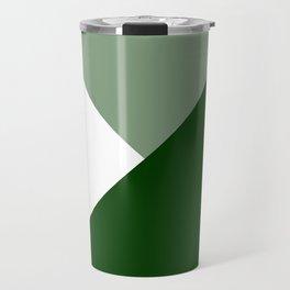 Forest Green Angles Travel Mug