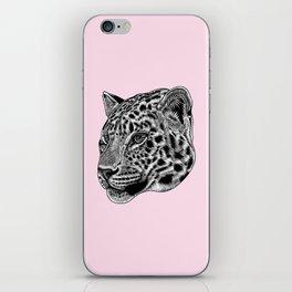 Amur leopard cub - pink - big cat iPhone Skin