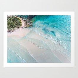 Shallows - Wall Art, Wall Decor, Home Decor, Beach Print, Ocean Print, Aerial Photo Art Print