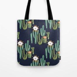 Dark Cactus Desert Tote Bag