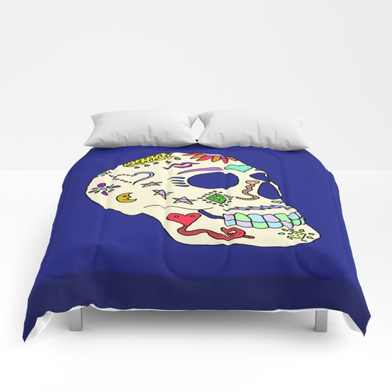 Sugar Skull Side Comforters