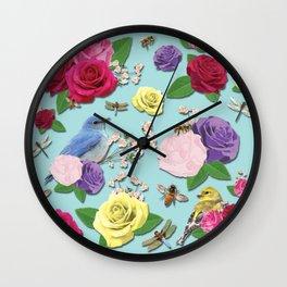Martha's Garden Wall Clock