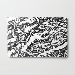Mandala Dante Inferno Detail 4 Metal Print