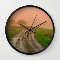 She Was in Love With Her Rose Colored Glasses Wall Clock