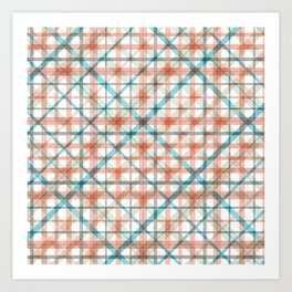 Candy's Handmade Plaid Texture 2 Art Print