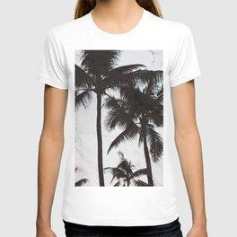 Velvet Palm trees on marble T-shirt
