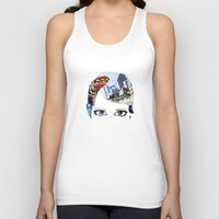 60s Tank Tops featuring '60s Eyes- Original Color by Katy Rose