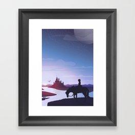 Prince Todoroki Landscape Framed Art Print